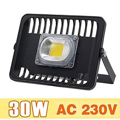 30W COB, Warm White, Spain : [MingBen] LED Floodlight 30W 50W 100W Outdoor Lighting AC 230V High Brightness IP65 Waterproof CE For Square Garden Garage