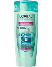 L'Oreal Paris Hair Expertise Extraordinary Clay Shampoo For Oily Roots , Dry Ends, 385 mL