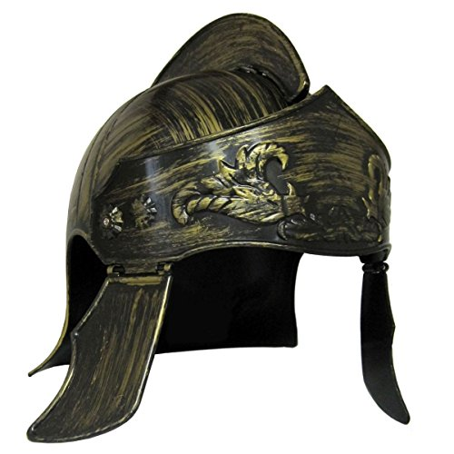 [Jacobson Hat Company Men's Roman Helmet, Gold, Adult] (Trojan Halloween Costumes)