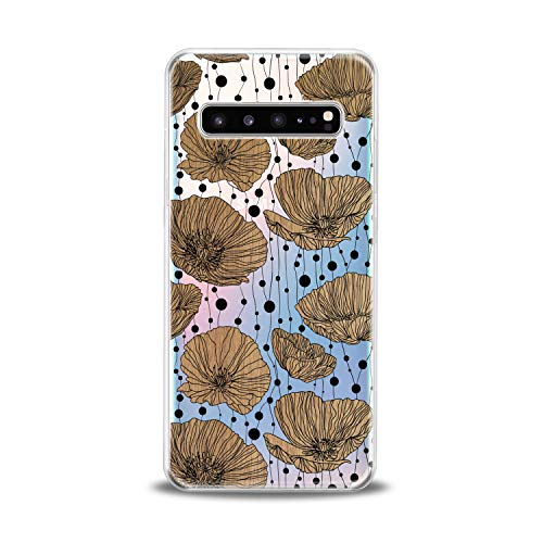 Printed Poppies Modern (Lex Altern TPU Case for Samsung Galaxy s10 5G Plus 10e Note 9 s9 s8 s7 Floral Lightweight Flowers Cover Amazing Poppies Flexible Clear Blossom Print Girls Women Protective Design Silicone Transparent)