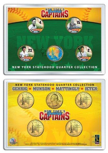 - YANKEES CAPTAINS Statehood NY Quarters 5-Coin Set JETER MUNSON GEHRIG MATTINGLY