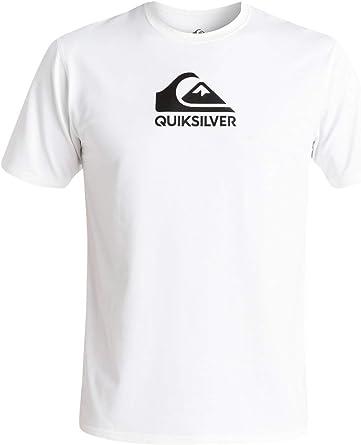 Quiksilver Mens Solid Streak Short Sleeve Rashguard UPF 50 Sun Protection EQYWR03159