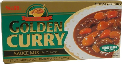 S&B Golden Curry Sauce Mix, Medium Hot, 8.4-Ounce - Curry Powder Rice