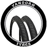 MTB Slick Tyres 26' x 1.95' Vandorm City Slick Mountain Bike Slick Pair of Tires