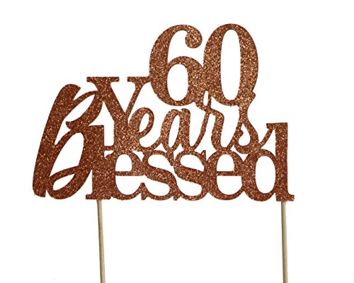 Price comparison product image All About Details Copper 60-Years-Blessed Cake Topper