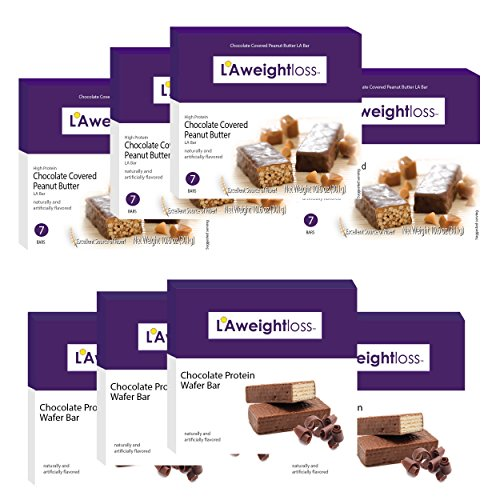 LA Bars - Chocolate Peanut Butter & Chocolate Wafer 8 Pack by LA Weight Loss