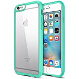 i phone 6 bumper with clear back - iPhone 6S Case, Trianium [Clear Cushion] Premium Clear Hard Back Panel + TPU Bumper for Apple iPhone 6 (2014) / iPhone 6s (2015) - Shock Absorbing + Scratch Resistant Frame Cover Case - Turquoise