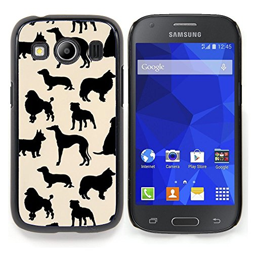 All Phone Most Case / Special Offer Smart Phone Hard Case Cool Image PC Skin Cover Protective Case for Samsung Galaxy Ace Style LTE/ G357 // dog species pattern black beige