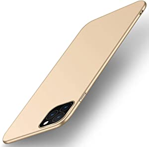 Anyos Compatible iPhone 11 Pro Max Case, Ultra Thin Slim Fit Finish Minimalist Smooth Matte Surface Anti-Scratch Hard PC Case Cover 6.5 inch, Gold
