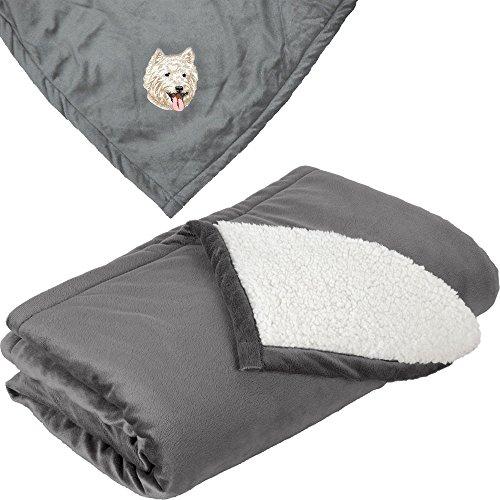 West Highland Blanket (Cherrybrook Dog Breed Embroidered Mountain Lodge Reversible Blanket - Gray - West Highland White Terrier)
