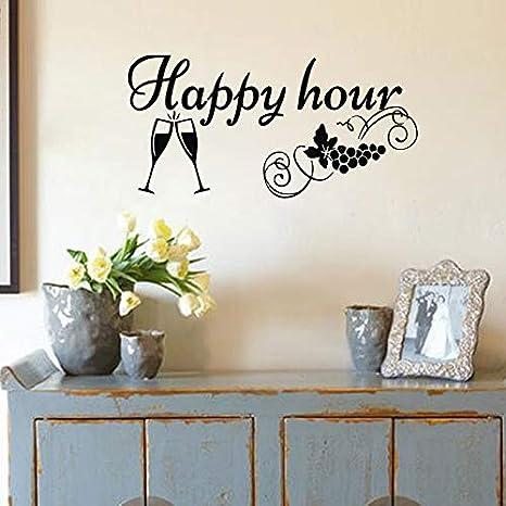 haochenli188 Happy Hour Adesivi murali Cucina Decorazioni ...