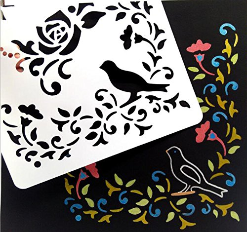 Stuffnew 20 Pieces Glass Etching Journal Painting Template Stencil with Different Patterns Letters Stencil Scrapbooking Decompression DIY Craft Halloween Christmas Gift (2) (Letter Designs For Halloween)