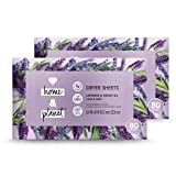 Love Home and Planet Dryer Sheets Lavender & Argan Oil 80 Count