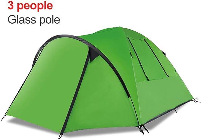 WZLJW Tienda De Campaña Familiar,Compacta 3-4 Personas Doble Capa Al Aire Libre Carpa para Camping Anti-UV Tienda De Campaña Prevención De Lluvias Tienda De Campaña Festival Verde 200cm: Amazon.es: Hogar