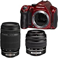 Pentax K30 Digital Camera with 18-55mm AL and 55-300mm AL Lens Kit Red [Electronics]