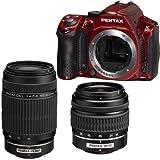 Pentax K30 Digital Camera with 18-55mm AL and 55-300mm AL Lens Kit Red [Electronics]