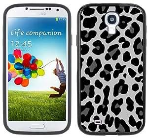 Snow Leopard Animal Print Handmade Samsung Galaxy S4 Black Bumper Hard Plastic Case