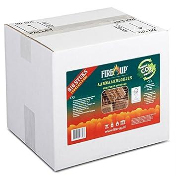 Encendedores Qty 616 para estufa de leña Fire Natural y sostenible 100% Carbon Neutral las emisiones - moderno cocinas: Amazon.es: Hogar