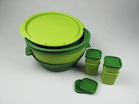 Tupperware I101 Micro Gourmet + 4 x moldes de colour verde ...