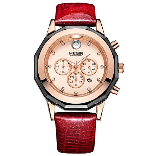 Chronograph Leather Watches Luminous Wristwatch product image