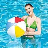 QJJML Beach Ball Traditional Color Rainbow Inflatable Beach Ball - Beach and Pool Toys - (One Pack Has 4 Beach Balls)