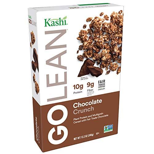 Kashi GOLEAN, Breakfast Cereal, Chocolate Crunch, Vegan, Non-GMO Project Verified, 12.2oz (Peanut Butter Kashi)