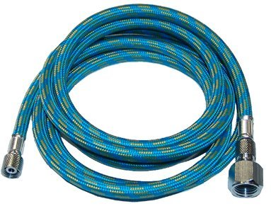 "Premium-Quality 6-Ft Braided Airbrush Air Hose 1/8"" - 1/4"""