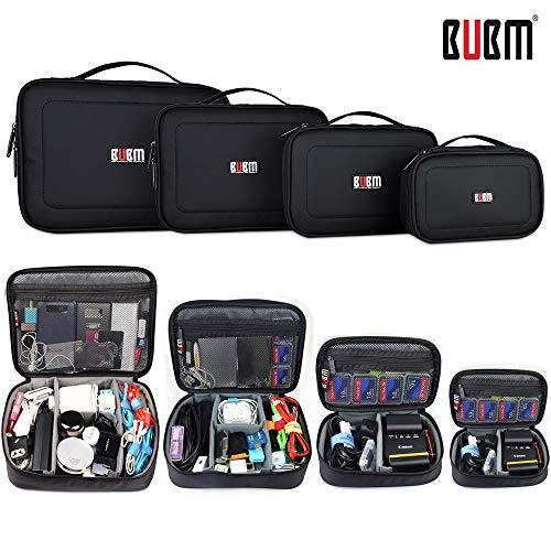BUBM 4pcs/Set Travel Electronic Organizer Gadgets Electronics Accessories Storage Bag for Memory Card USB Battery Power…