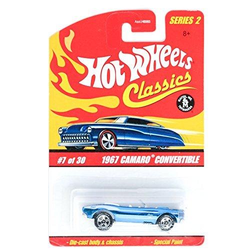 Hot Wheels Classics Series 2 1967 Camaro Convertible DARK BLUE Online Exclusive #7 7/30 1:64 Scale