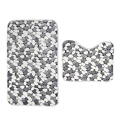 2Pcs-Bath-Rug-Set-Washable-Absorbent-Non-slip-Doormate-Bathroom-Bath-Mats