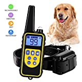 Training Dog Collar - Shock Collar for Dogs IPX7 Waterproof Rechargeable Dog Shock Collar with Remote 2500ft Dog Training Collar for Small/Medium/Large Dogs Shock Beep Vibrate Light Modes