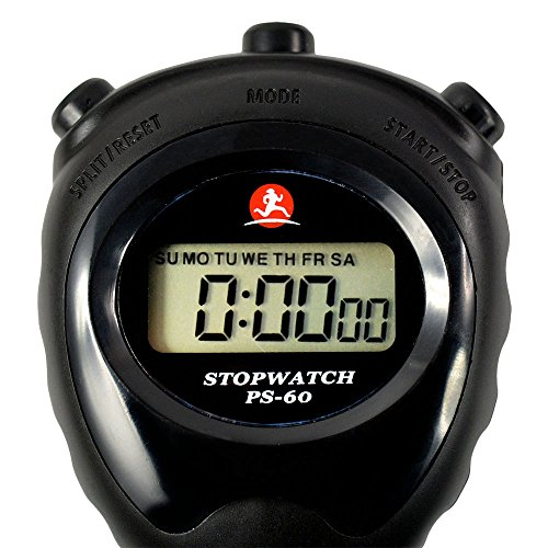 WiseField Digital Stopwatch LCD Chronograph Running Sports Timer Counter Clock