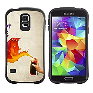 Suave TPU GEL Carcasa Funda Silicona Blando Estuche Caso de protección (para) Samsung Galaxy S5 / CECELL Phone case / / Paint Spray Art Splash Orange Red Blue Wall /