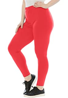 52a4a37772a Woman Within Plus Size Tall Stretch Cotton Legging at Amazon Women s ...