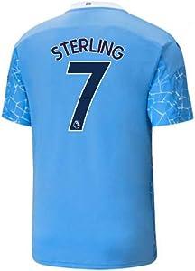 2020-2021 Manchester City Home Football Soccer T-Shirt Jersey (Raheem Sterling 7)