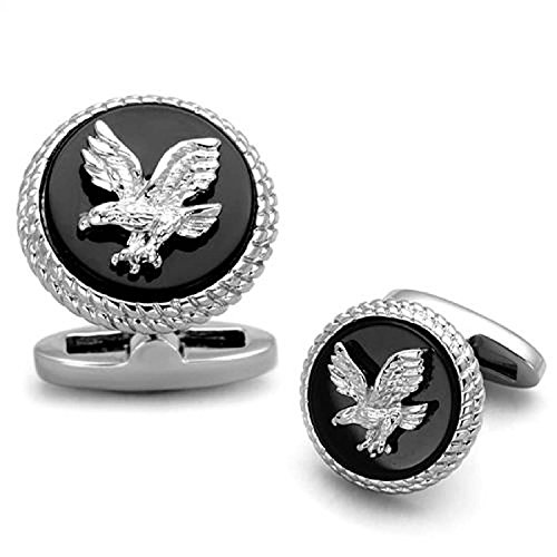 us-american-bald-eagle-mens-cufflink-in-classic-black-stainless-steel-round-jewelry-accessory