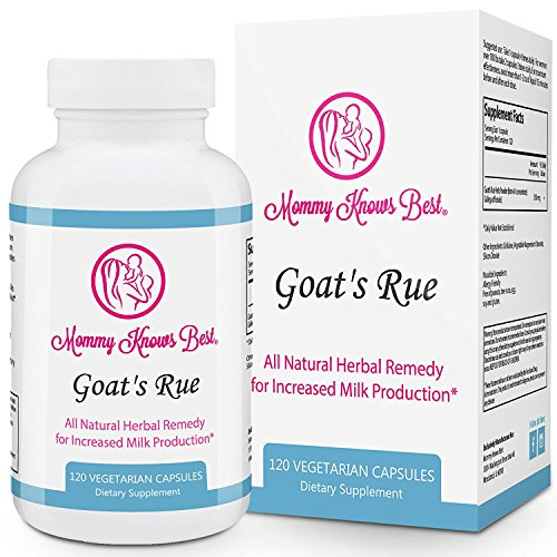 Goats Rue Lactation Aid Support Supplement for Breastfeeding Mothers - 120 Vegetarian Capsules (Best Breast Milk Enhancer)