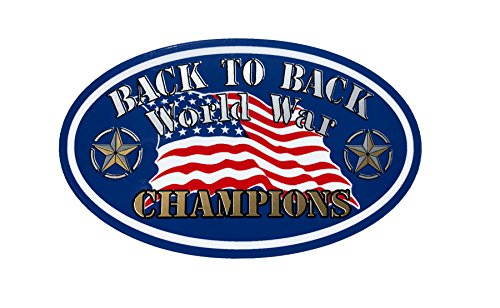 Back to Back, World War, Champions, oval sticker, I Make Decals ®, lunch box, tool box, Helmet Stickers 3