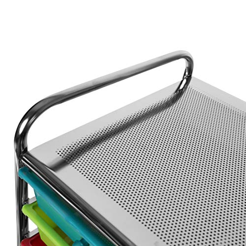Seville Classics 15-Drawer Organizer Cart Pearlescent Multi-Color by Seville Classics (Image #5)