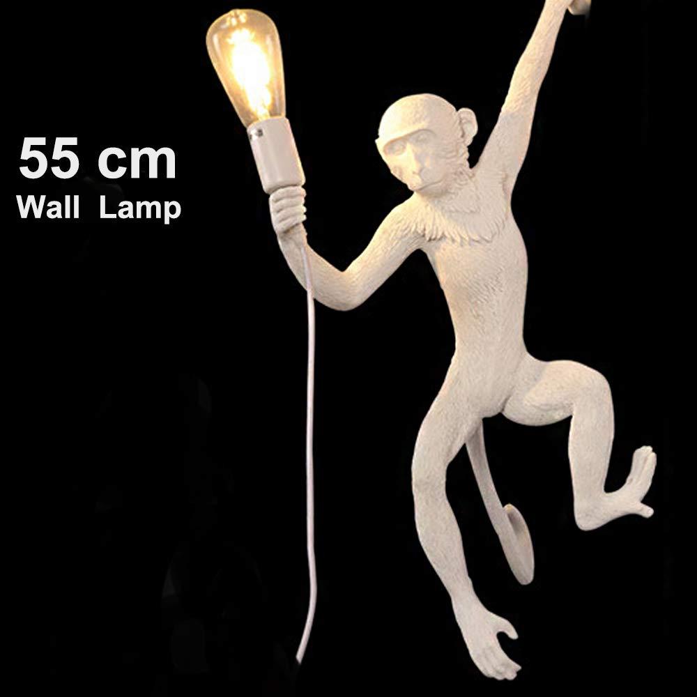 Lampada da Tavolo in Resina Originale, Lampadario, Applique, Lampada da Tavolo per Soggiorno, Camera da letto e Corridoio (Colore fai da te della scimmia) (Lampada a muro) Doublewhale