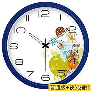 Jiaa Wall Clock For Living Room Mute Digital Art Drawing Quartz Home Decor 13 Inch