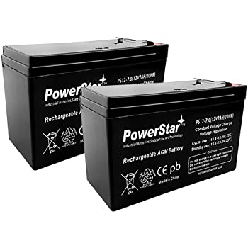 12v 7ah SLA Battery Replacement for Casil CA1270-3 Year Free Replacement Warranty Powerstar
