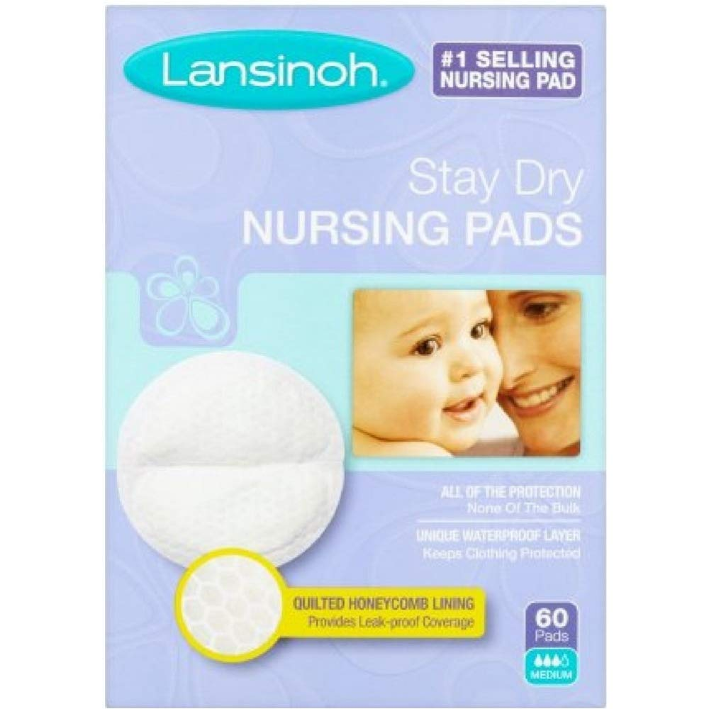 Lansinoh Nursing Pads Stay Dry 60 Each ( Pack of 6 )