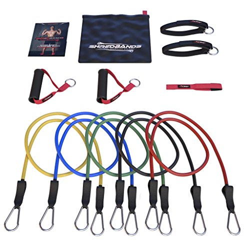 Number 1 RATED - Resistance Bands - 11pc Set - Superior Door Anchor Attachment - Ankle Strap for Legs Workout & Carry Case - Heavy Duty Anti-Snap Technology - Bonus - And Snap Is
