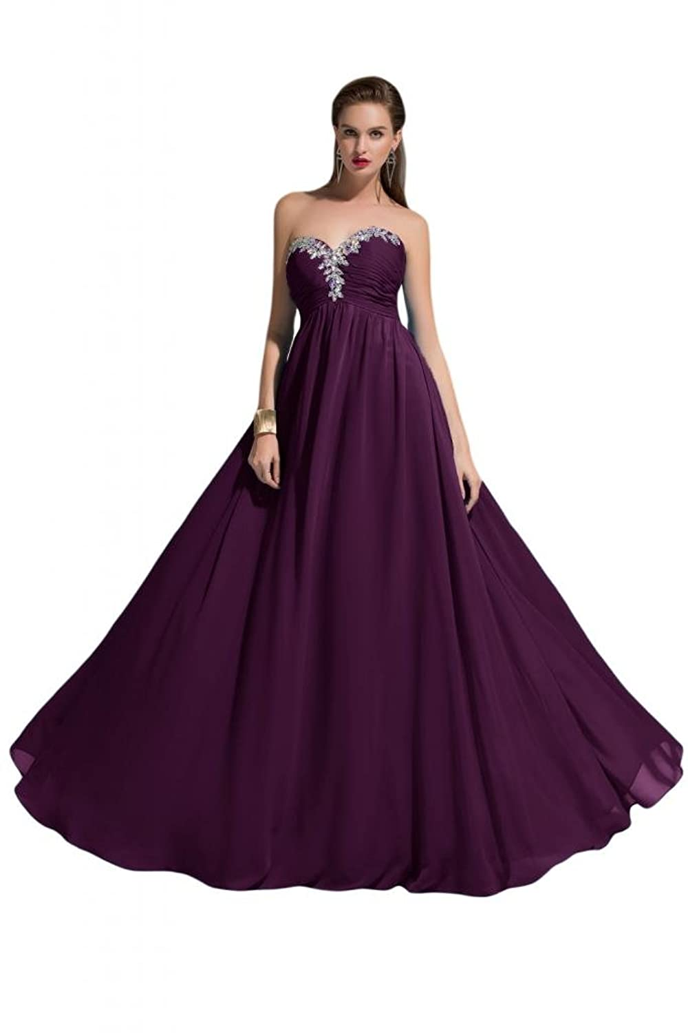 Sunvary Spaghetti Strap Draped Ruffle Applique Long Pageant Evening Dresses