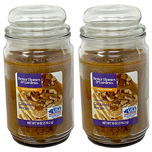 Better Homes and Gardens 18oz Scented Candle, Candied Caramel Pecan 2-Pack in USA