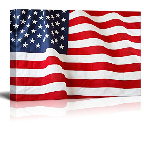 Closeup of Ruffled American Flag US Flag Wall Decor ation