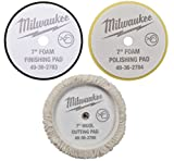(7'') - NEW - Cutting Polishing and Finishing Pad Kit 49-36-2783,2784,2785 for Milwaukee M18 Polisher (2738)