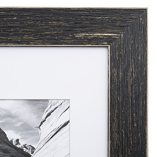 8x10 Picture Frame Barnwood Brown - Matted to 5x7, Frames by EcoHome (Western Picture Frames 8x10)