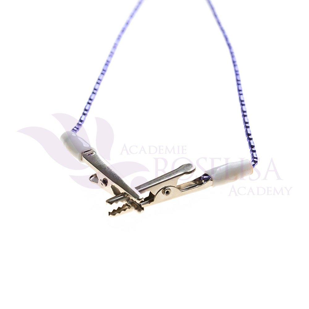 High Quality Dental Bib Clips with Flexible Purple Stylish Chain